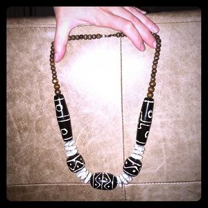 Jewelry - Brown and White Necklace